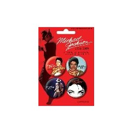 Badge Pack Michael Jackson Red