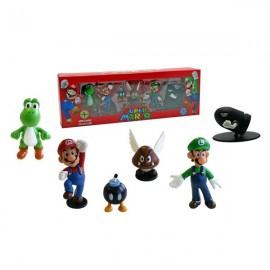 Pack 6 Figurines Mario