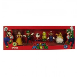 Pack 6 Figurines Mario