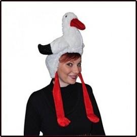 Bonnet Chapeau de Noel Cigogne