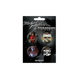 Badge Pack Michael Jackson King of Pop
