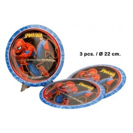 Lot de 3 Assiettes Spiderman