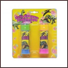 2 Tubes de Bulles de Savon Dinosaure