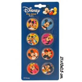 8 Pins Métal Mickey