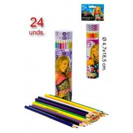 Set de 24 Crayons de Couleurs Hannah Montana