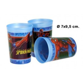 Lot de 3 Verres en Plastique Spiderman