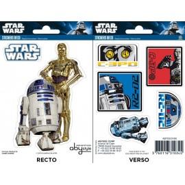 Mini Stickers Star Wars R2-D2 / C3PO