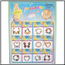 Planche de 12 Tatouages pour Nombril