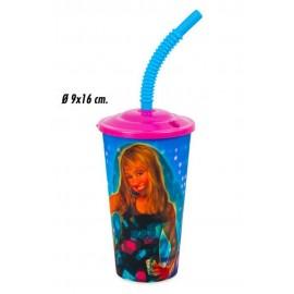 Gobelet Hannah Montana avec Paille