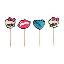 Lot de 4 Bougies Monster High