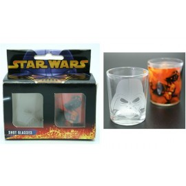 STAR WARS - Jedi Duel et General Grevious Etched Shot Glass Bi Pa