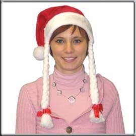Bonnet de Noel avec Nattes